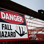 fall hazard sign